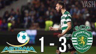 Astana vs Sporting 1-3 - All Goals & Highlights ● 15/02/2018 HD