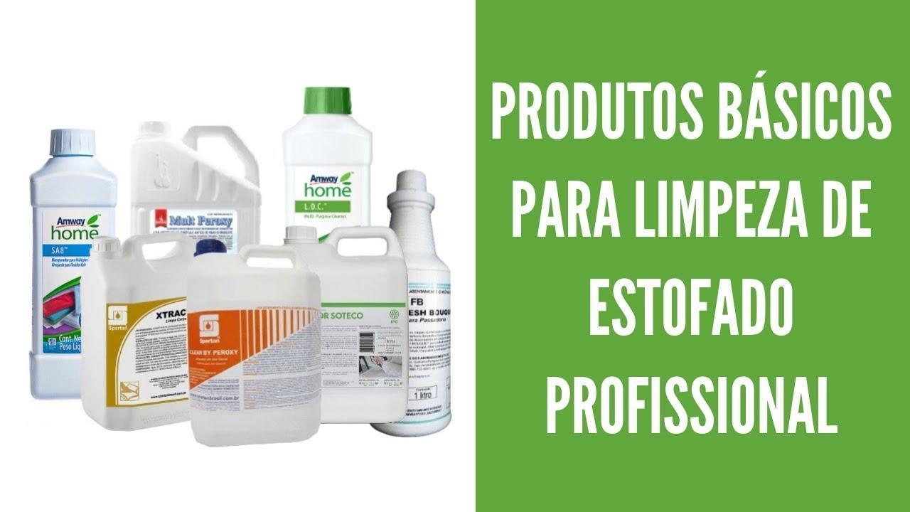 Curso de Limpeza de Estofados - Produtos Básicos