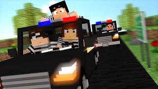 Minecraft : FUGINDO DE CARRO DA PRISÃO !! - ( Polícia e Ladrão)