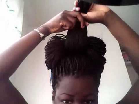 Tutorial Thursday: Bowtie on Box Braids (26) - YouTube