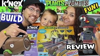 Plants Vs. Zombies K'nex: Pirate Seas Plank Walk Timelapse Build & Review W/ Mom, Dad & Chase