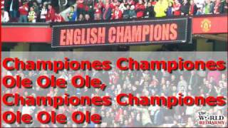 Repeat youtube video Glory Glory Man United Medley - The World Red Army