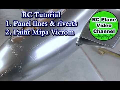 RC Tutorial: 1. Panel lines & riverts 2. Paint MIPA Vicrom Chrome mirror glaze - DH100 Vampire
