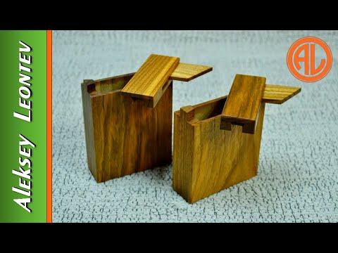 Портсигар с секретом. Деревянный портсигар.  Wooden cigarette case with a secret.