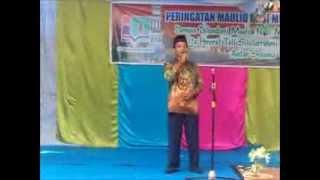 M Dalhar,S.Ag selaku Ka Panitia Maulid Nabi SAW di MTs Islamiyah Palangka Raya th 1435 H 2014