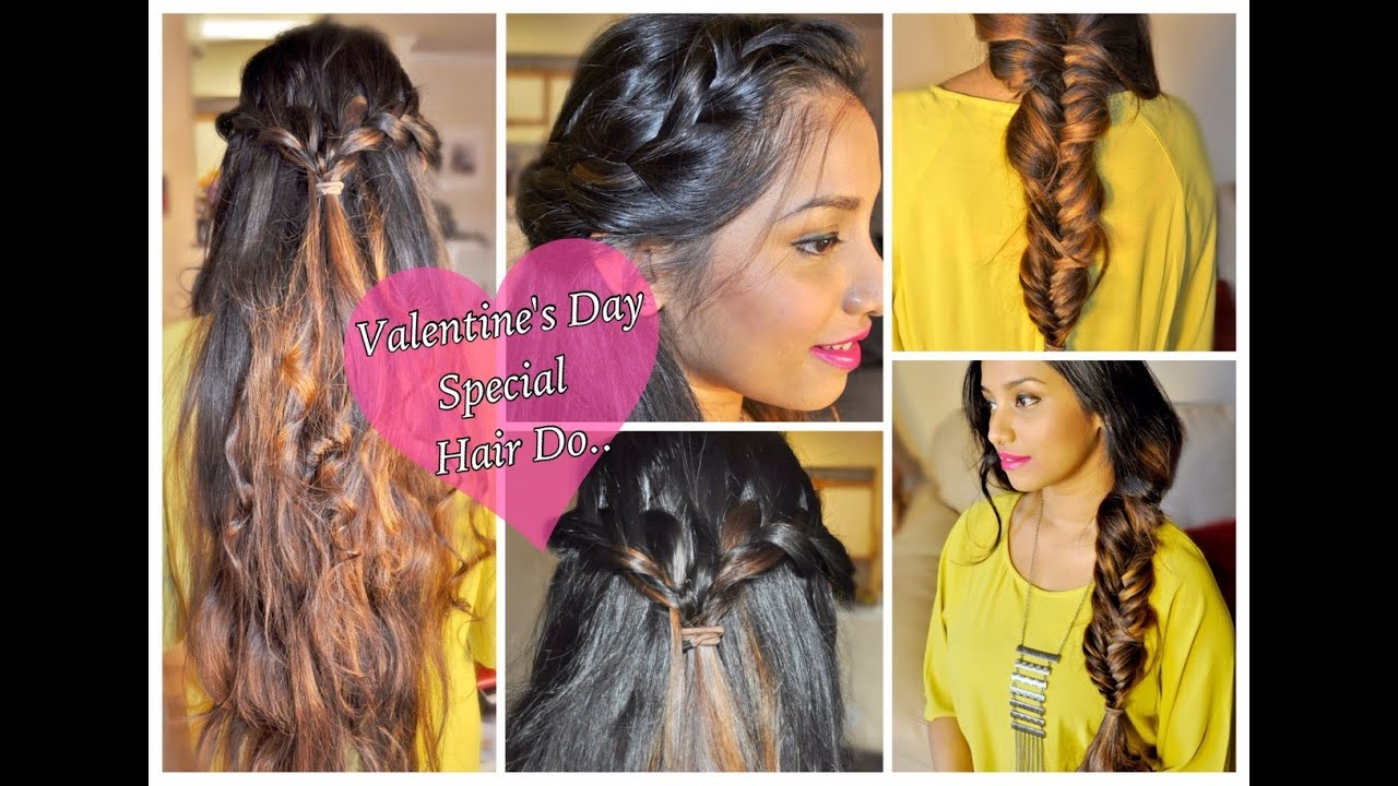 Valentines Day Special Simple Romantic Hairstyle For Medium To