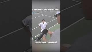 Line Call Drama on Championship Point Between Pete Sampras & Pat Rafter   Cincinnati 1998 😬 #Shorts