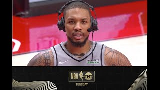 Damian Lillard Joined the Crew After A 50-Point Performance Against the Pelicans   NBA on TNT