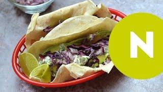 Halas taco, avokádóval