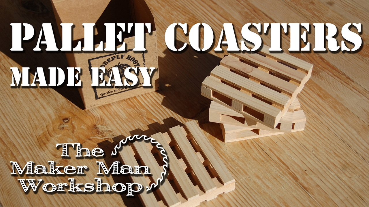 Easy to Make Pallet Coasters - YouTube