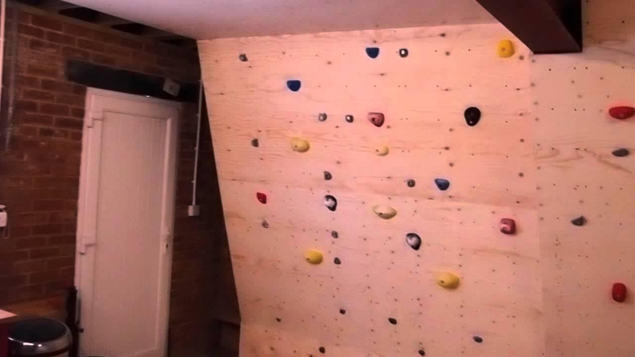 jon u0027s woody garage climbing wall youtube