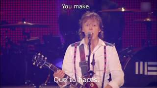 Paul McCartney Golden Slumbers Carry That Weight The End Subtitulos Español E Inglés 2013