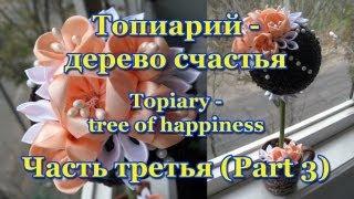 Топиарий (Topiary) - дерево счастья. Мастер-класс. Урок 3