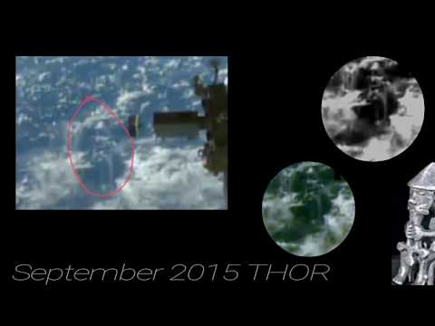 Alien figures walking on the clouds NASA live ufo feed 2016