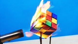 Бедный кубик Рубика! Что если ГАЗОВОЙ ГОРЕЛКОЙ нагреть ОРБИЗ, ЗЕРКАЛО и др