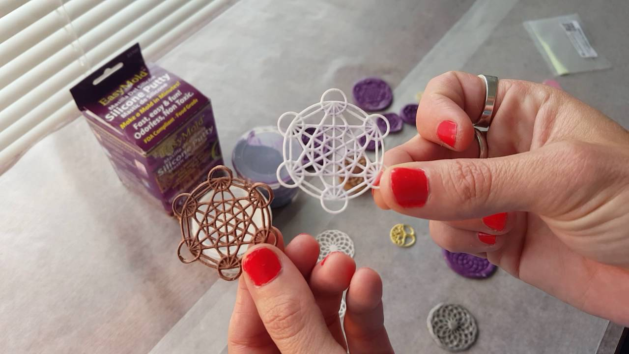 Tutorial 1 how to make your own sacred geometry silicone molds for tutorial 1 how to make your own sacred geometry silicone molds for orgone energy resin pendants aloadofball Choice Image