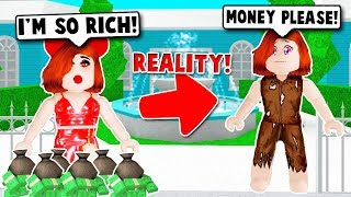 I CAUGHT A POOR GOLD DIGGER PRETENDING TO BE RICH ON BLOXBURG! (Roblox)