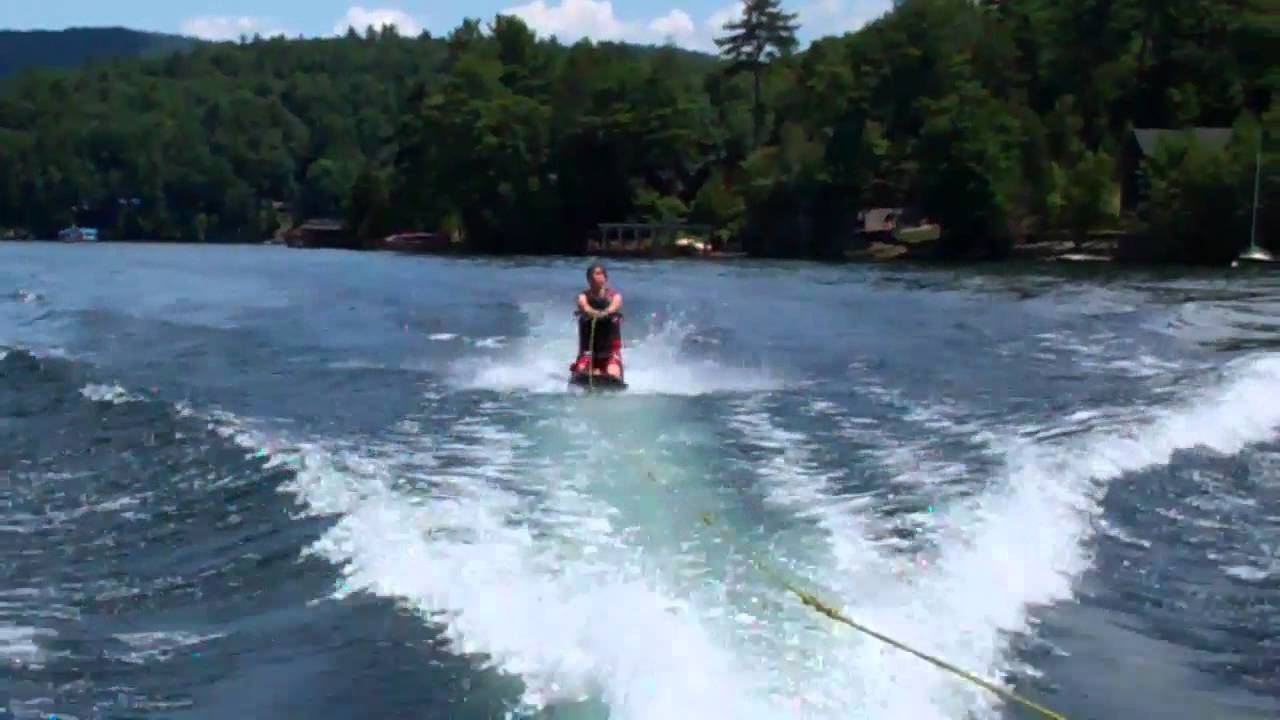 knee boarding tricks how to get up and do a 180360 spin