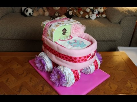 Baby Carriage Diaper Cake How To Make
