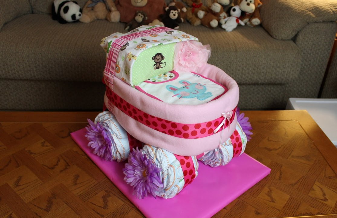 baby diaper cake carriage