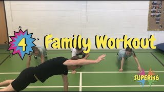 Family Fun Workout - Only 6 Minutes! SUPERin6