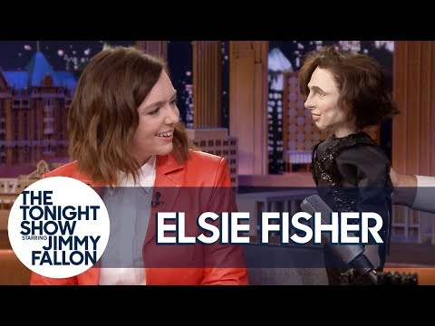 Elsie Fisher Reenacts Meeting Timothée Chalamet with a Puppet