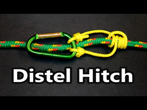 How to tie the Distel hitch (knot)   Encyclopedia of Knots   Climbing knots   Do it right