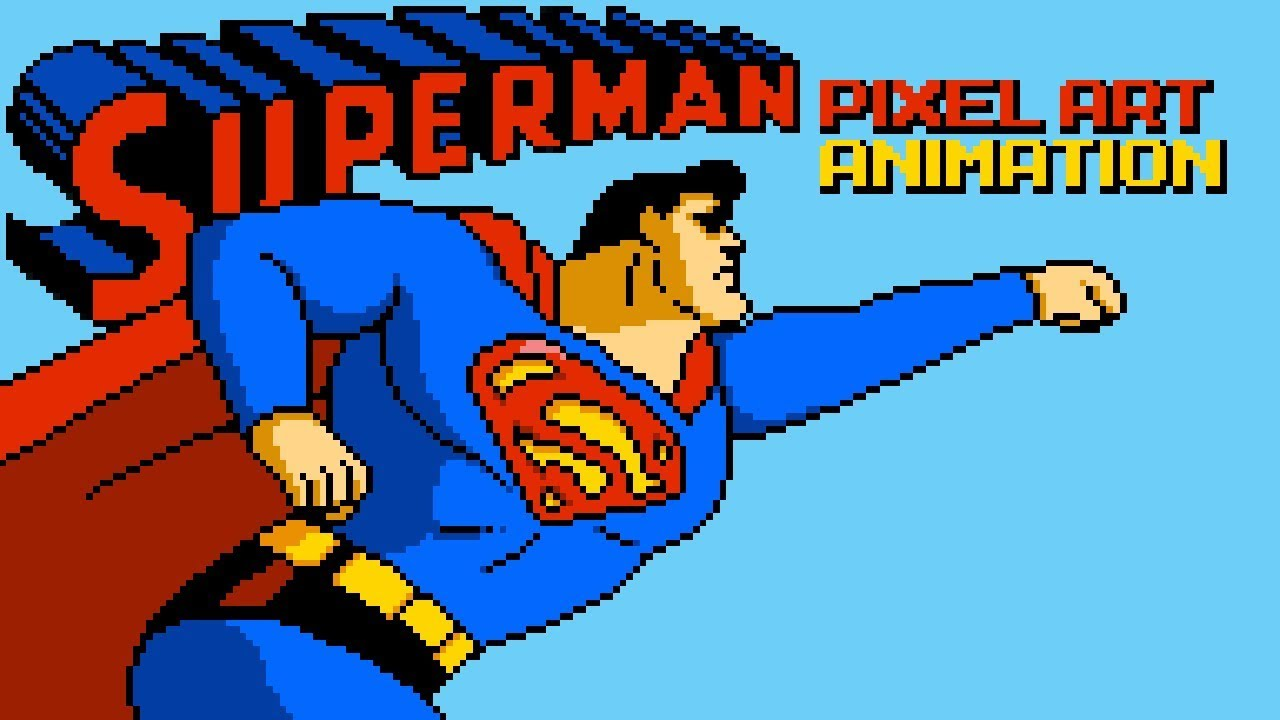 Superman Pixel Art Animation By Pxlflx
