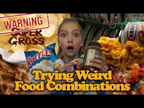 Trying weird food combinations! Warning - super gross!
