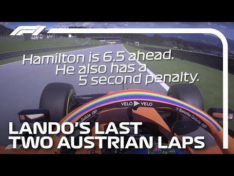 Lando Norris' Last Two Laps In Full With Team Radio | 2020 Austrian Grand Prix