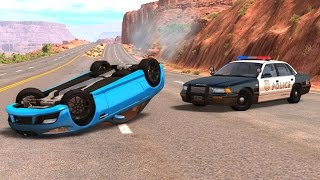 POLICE CHASES In First Person (Pov) + Fails&Crashes - BeamNG DRIVE  (Logitech G29) Ep2