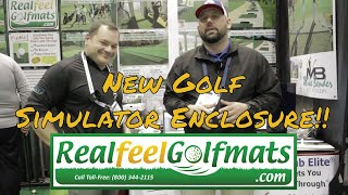 Real Feel Golf Mats Portable Golf Simulator Enclosure