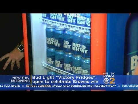 Free Beer: Browns' Win Unlocks 'Victory Fridges' Around