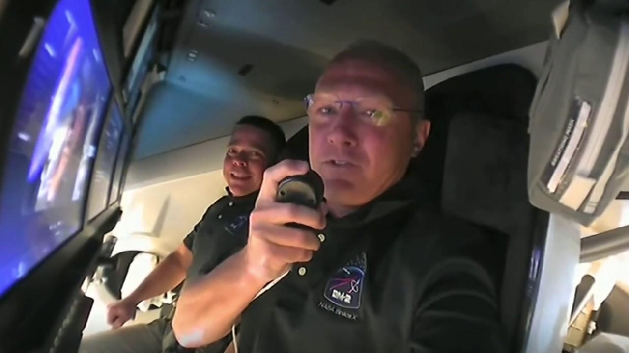 Astronauts' on-orbit tour of SpaceX Crew Dragon 'Endeavour' includes 'zero-g dinosaur'