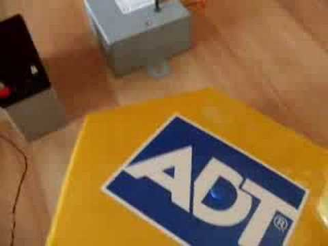 hqdefault adt new style alarm box (with blue leds) youtube adt bell box wiring diagram at bayanpartner.co