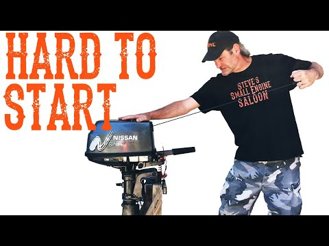 How To Fix An Outboard That Is Hard To Start - Video
