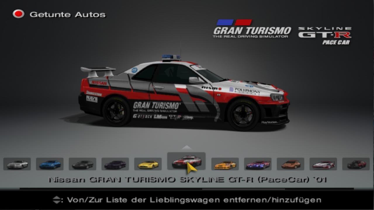 Gran Turismo 4 - Nissan Skyline GTR Pace Car - Mid Fild ...