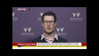 Sky News - University of Warwick - Dr David Lees - French regional elections - 7 December 2015