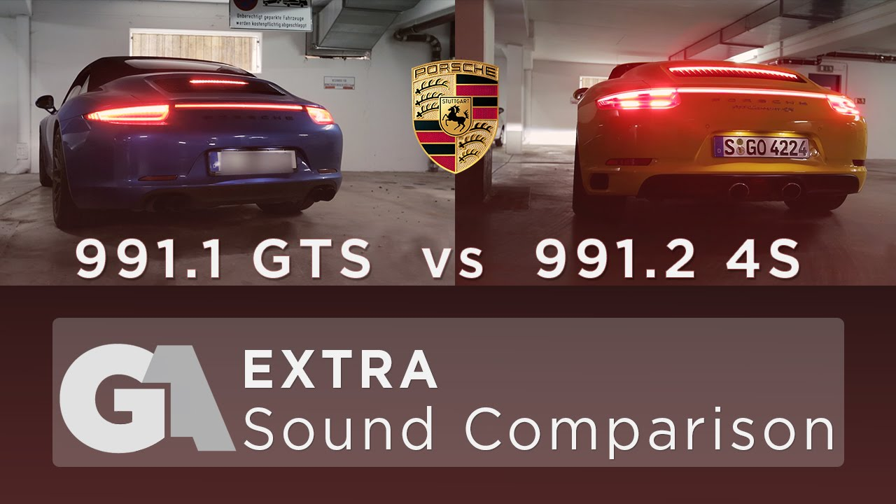 porsche 991 1 gts vs 991 2 4s exhaust sound comparison. Black Bedroom Furniture Sets. Home Design Ideas