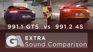 homepage tile video photo for Porsche 991.1 GTS vs 991.2 4S - EXHAUST SOUND COMPARISON by Groschi...