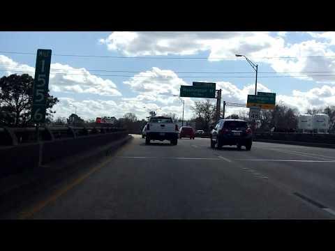 Baton Rouge Expressway (Interstate 110) southbound