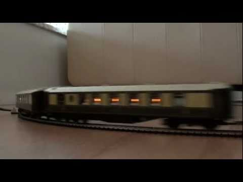 Lighted pullman coaches on Live steam 00/H0 gauge