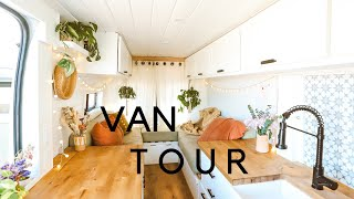VAN TOUR   Cozy DIY Promaster   Full-Time Home with Dog