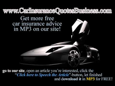 Low Rates Car Insurance in Canada - Free MP3 Car Insurance Advice
