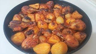 Fırında Tavuklu Patates 💯 En Leziz Özel Soslu