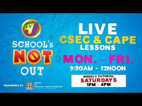 TVJ Schools Not Out: CAPE Communication Studies With Charmaine Tingling & Dian Hines - March 24 2020