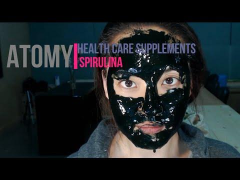 Korean Skincare and Makeup: Atomy - Spirulina DIY Mask + Rose Mist 애터미 필 마스크