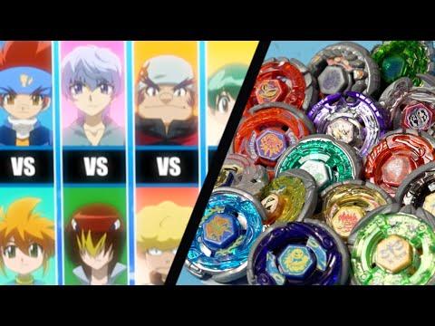 Beyblade Anime VS Real Life - BATTLE BLADERS! Team Gingka VS Dark Nebula