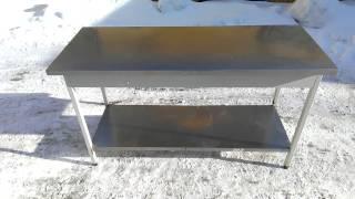 видео Металлические столы для кухни