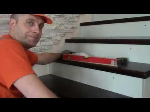 Как крепить деревянные ступени к бетонной лестнице